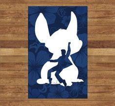 Stitch and Elvis Poster Print - Inspired by Disney's Lilo and Stitch on Etsy, $16.00