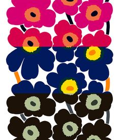 Marimekko Unikko 50 Colourways via WeeBirdy.com