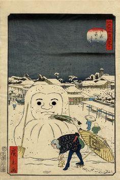 0 :ハムスター速報 2016年01月03日 19:44 ID:hamusoku江戸時代の「雪だるま」Edo period Japanese snow Daruma本当に雪で達磨(だるま)の形を作っていた3 :ハムスター名無し2016年01月03日 19:45 ID:.abb1BTX0これが本当の雪だるまだったのか!!5 :名無し