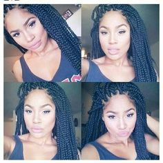 .Very neat box braids or back in the day I use to call them the Janet Jackson braids.