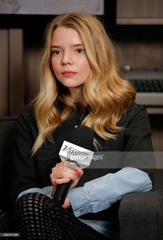 Actress Anya Taylor-Joy attends The Variety Studio At Sundance Presented By Dockers Day 3 on January 2015 in Park City, Utah. Get premium, high resolution news photos at Getty Images Anya Joy, Anya Taylor Joy, British Actresses, Hollywood Actresses, Brown Eyes Blonde Hair, She Is Gorgeous, Celebrity Portraits, Hairstyles Haircuts, Scarlett Johansson