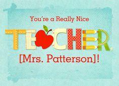 For a Really Nice Teacher