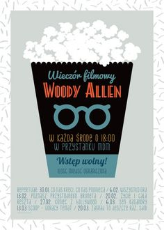 Kino - wall-being Woody Allen, Cata, Brunei, Hollywood, Cover, Books, Movie Posters, Polish, Libros