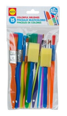 Kids' Art Paintbrushes - ALEX Toys Artist Studio 15 Colorful Brushes -- You can find more details by visiting the image link.