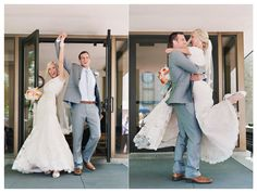 Love how much you can see they love each other by just having fun on their big day