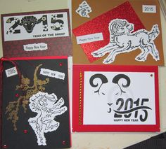 Chinese New Year Goat, sheep, ram cards
