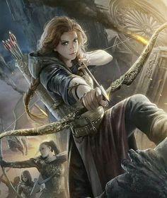 grafika fantasy, girl, and archer Fantasy Warrior, Warrior Girl, Warrior Princess, Warrior Women, Fantasy Women, Fantasy Girl, Fantasy Princess, Fantasy Artwork, Fantasy Inspiration