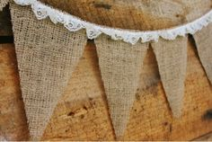Mrs Bishop's Banter: burlap and lace banner garland