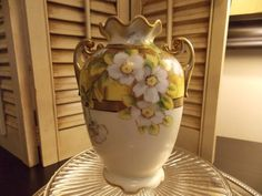 CHINA VASE NIPPON Vintage Hand Painted by VintageCreativeAccen
