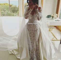 Vintage Off The Shoulder mermaid wedding dress with detachable train long sleeves lace bohemian wedding dresses country turkey bridal gowns Vintage Schulterfrei Meerjungfrau Brautkleid Mit [. Country Wedding Dresses, Bohemian Wedding Dresses, Wedding Dress Styles, Dream Wedding Dresses, Wedding Attire, Bridal Dresses, Wedding Gowns, Wedding Venues, Vintage Lace Weddings