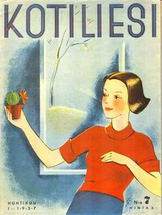 Kansi: Lea Jännes (Kotiliesi n:o 1/1937)