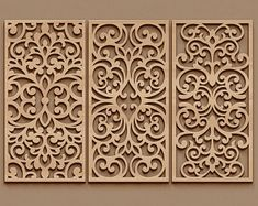 Laser Cut Stencils, Stencil Templates, Stencil Designs, Room Divider Screen, Room Screen, Wood Panel Walls, Panel Wall Art, Cnc Cutting Design, Laser Cutting