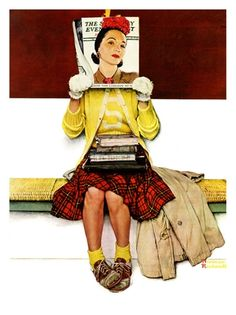 """""""Cover Girl"""", March 1,1941 Giclee Print by Norman Rockwell at Art.com"""