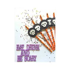 Check out this item in my Etsy shop https://www.etsy.com/listing/467715725/12-halloween-straws-halloween-party
