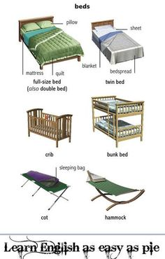 #beds, #Vocabulary #English. Find an online English teacher on blabmate.com