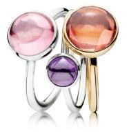 BOLD and TRENDY. Glossy cubic zirconia and crystals adorn sterling silver and 14k gold rings; their iridescent colors and bold shapes echoing the fashion influences of pastels and new pop culture. Find yours at Barnes Jewelers of Goldsboro.
