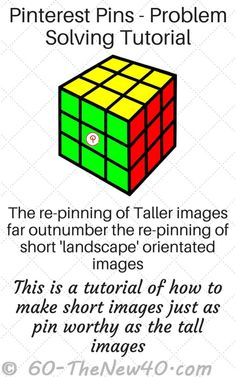 Pinterest Pins - Problem Solving Tutorial. The re-pinning of Taller images far outnumber the re-pinning of short 'landscape' orientated images. This is a tutorial of how to make short images just as pin worthy as the tall images . http://60-thenew40.com/pinterest-pins-problem-solving-tutorial/ Tutorial is on a Print Friendly page.