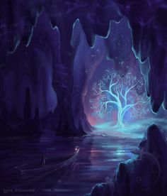 Underworld-ish for sure, magical trees in a cave with an underground river and all. So cool!
