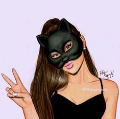 Ariana Grande drawing. This is so cute and good!