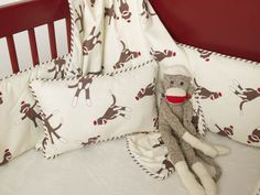 sock monkey nursery | and every carefully designed set...but I think the Sock Monkey Crib ...