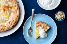 This buttery almond cake with lemon curd baked inside is like the ultimate citrus tart, without the heartbreak of pie crust. It's fancy enough to be served as a dinner party dessert, yet substantial enough to be served with Sunday brunch. (Photo: Karsten Moran for The New York Times)