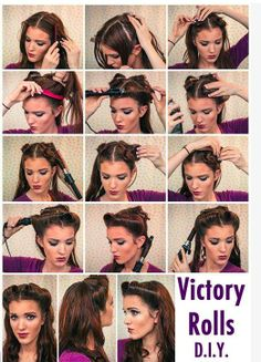 my victory curls victory rolls and my vintage dos pinterest victory curls and victory rolls