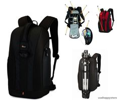 Professional Camera Backpack DSLR Digital Bag Case Photography Travel Black Gift #Lowepro