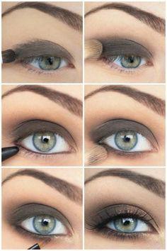 gorgeous and simple smokey eye!