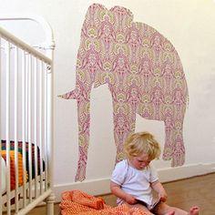 Elephant Wallpaper, Lion Wallpaper, Elephant Wall Art, Nursery Wallpaper, Wallpaper Ideas, Animal Cutouts, Diy Bebe, Elements Of Style, Decoration