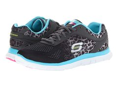 SKECHERS Flex Appeal - Serengeti SUPER comfy memory foam lightweight sneaks!  Love the leopard!!!!