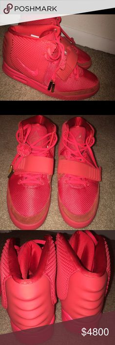 f80868f2882d9 Autographed by Kanye West. Buy Discount Nike Yeezy 2 Cheap sale Red October  508214 010