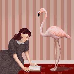 Lectura en rosa (ilustración de Daria Petrilli)