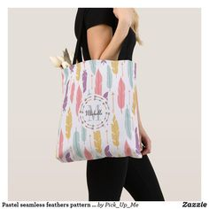 Shop Feathers Boho Tote created by Personalise it with photos & text or purchase as is! Save My Money, Monogram Tote Bags, Feather Pattern, Ethnic Patterns, Indie Outfits, Antique Clothing, Printed Bags, Holiday Photos, Vintage Handbags