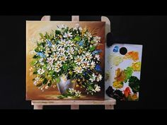 How To Paint Flowers with Acrylic Paint and a Palette Knife - YouTube