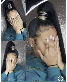 17 Most Universal Sleek Ponytail Hairstyles French Braids - - High Ponytail Hairstyles, Ponytail Styles, High Ponytails, Sleek Ponytail, My Hairstyle, Black Girls Hairstyles, Weave Hairstyles, Short Hair Styles, Natural Hair Styles