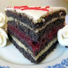 Meggyes-grízes máktorta Receptek a Mindmegette. Baking Recipes, Cookie Recipes, Dessert Recipes, Best Party Food, Hungarian Recipes, Xmas Food, Sweet And Salty, Relleno, No Bake Cake