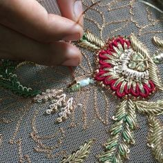 Artisans hard at work putting every little tanka at its place to create a flawless design ! Artisans hard at work putting every little tanka at its place to create a flawless design ! Zardosi Embroidery, Tambour Embroidery, Bead Embroidery Patterns, Hand Work Embroidery, Couture Embroidery, Indian Embroidery, Hand Embroidery Designs, Custom Embroidery, Beaded Embroidery