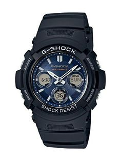 Casio Men's Solar Powered G-Shock Black Analog-Digital Watch - 8740899 Modern Watches, Stylish Watches, Casual Watches, Luxury Watches For Men, G Shock Watches Mens, G Shock Men, Sport Watches, Men's Watches, Casio Edifice