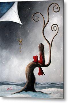 Kai Fine Art is an art website, shows painting and illustration works all over the world. Art And Illustration, Art Amour, Art Fantaisiste, Art Mignon, Winter Art, Winter Painting, Dream Art, Heart Art, Whimsical Art