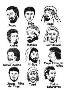 Desenhos para colorir e pintar: Os 12 discípulos de Jesus