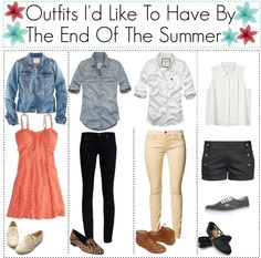 """Outfits I'd Like To Have By The End Of The Summer"" by ilovemytoms ❤ liked on Polyvore"