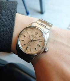 1955y ref.6564 pink sector dial Vintage Rolex, Vintage Watches, Cool Watches, Michael Kors Watch, Gold Watch, Instagram Posts, Pink, Blue, Accessories
