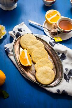 Meyer Lemon Earl Grey Shortbread from The Girl In The Little Red Kitchen