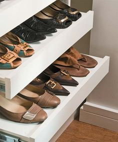 My shoes will love it! Walk In Closet Design, Closet Designs, Closet Layout, Shoe Cabinet, Shoe Storage, Wardrobes, Home Organization, Shoe Rack, Sweet Home