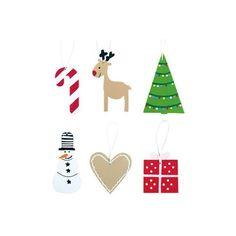 Carinissimo set di 12 decorazioni svedesi per l'albero di natale. Le decorazioni sono tutte realizzate in legno e comprendono le tradizionali raffigurazioni natalizie nordiche.