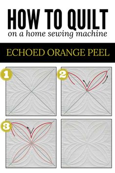 Download the free instructions for the echoed orange peel quilting motif. It's an excellent option for quilting quilt blocks!