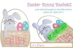 I2S Easter Bunny Basket Applique Design