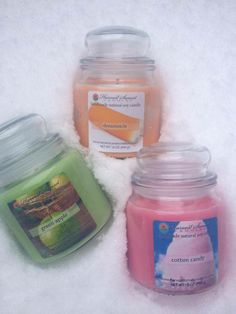 Dreamsicle, Green Apple and Cotton Candy... classic scents of the summer!