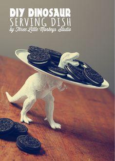 dinosaurio DIY, ¡los dinosaurios se comen nuestras galletas!