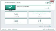 Die Kacheloberfläche von Kaspersky Internet Security lässt Sie schnell zu der Suchfunktion nach Malware gelangen.